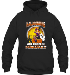 Halloqueens Are Born In February Gildan Heavy Blend Hoodie 8oz / Black / S Shirts