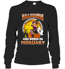 Halloqueens Are Born In February Gildan Long Sleeve T-Shirt / Black / S Shirts