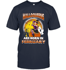 Halloqueens Are Born In February Next Level Unisex Fitted Tee / Indigo / S Shirts
