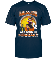Halloqueens Are Born In February Next Level Unisex Fitted Tee / Midnight Navy / S Shirts