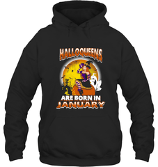 Halloqueens Are Born In January Gildan Heavy Blend Hoodie 8oz / Black / S Shirts