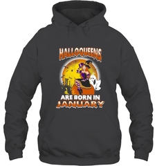 Halloqueens Are Born In January Gildan Heavy Blend Hoodie 8oz / Dark Heather / S Shirts