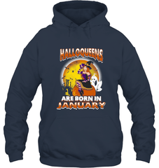 Halloqueens Are Born In January Gildan Heavy Blend Hoodie 8oz / Navy / S Shirts