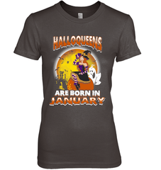 Halloqueens Are Born In January Next Level The Boyfriend Tee / Dark Chocolate / S Shirts