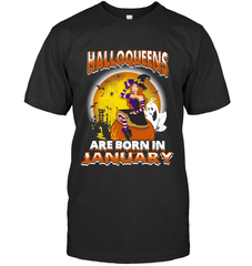Halloqueens Are Born In January Next Level Unisex Fitted Tee / Black / S Shirts