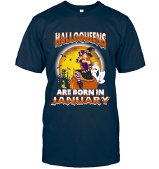 Halloqueens Are Born In January Next Level Unisex Fitted Tee / Midnight Navy / S Shirts