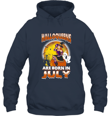 Halloqueens Are Born In July Gildan Heavy Blend Hoodie 8oz / Navy / S Shirts