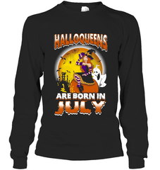 Halloqueens Are Born In July Gildan Long Sleeve T-Shirt / Black / S Shirts