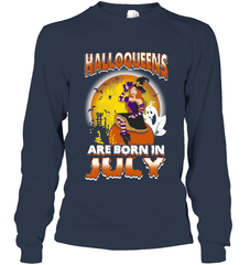 Halloqueens Are Born In July Gildan Long Sleeve T-Shirt / Navy / S Shirts