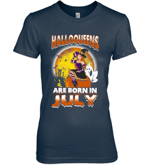 Halloqueens Are Born In July Next Level The Boyfriend Tee / Midnight Navy / S Shirts