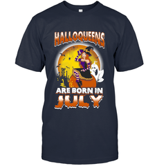 Halloqueens Are Born In July Next Level Unisex Fitted Tee / Indigo / S Shirts