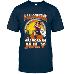 Halloqueens Are Born In July Next Level Unisex Fitted Tee / Midnight Navy / S Shirts