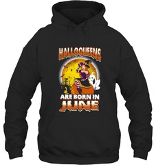 Halloqueens Are Born In June Gildan Heavy Blend Hoodie 8oz / Black / S Shirts