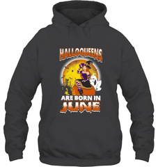 Halloqueens Are Born In June Gildan Heavy Blend Hoodie 8oz / Dark Heather / S Shirts