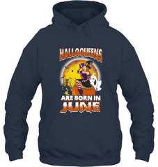 Halloqueens Are Born In June Gildan Heavy Blend Hoodie 8oz / Navy / S Shirts
