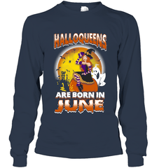 Halloqueens Are Born In June Gildan Long Sleeve T-Shirt / Navy / S Shirts