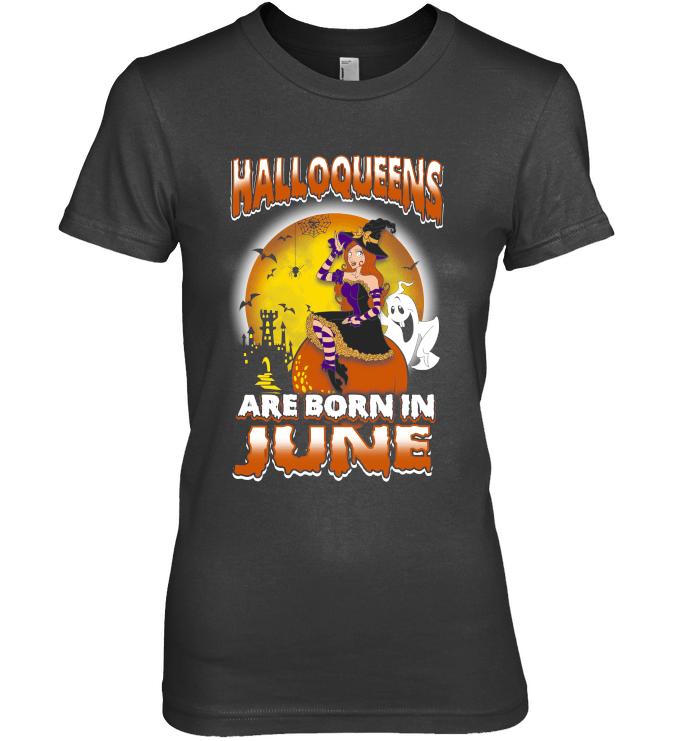 Halloqueens Are Born In June Next Level The Boyfriend Tee / Black / S Shirts