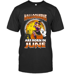 Halloqueens Are Born In June Next Level Unisex Fitted Tee / Black / S Shirts
