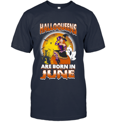 Halloqueens Are Born In June Next Level Unisex Fitted Tee / Indigo / S Shirts