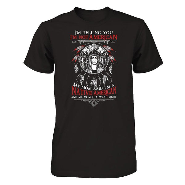 I am a Native American Next Level - Unisex Fitted Tee / Black / XS Shirts