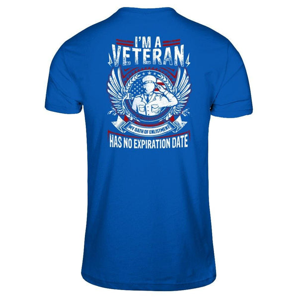 I am a Veteran Next Level - Unisex Fitted Tee / Royal / XS Shirts