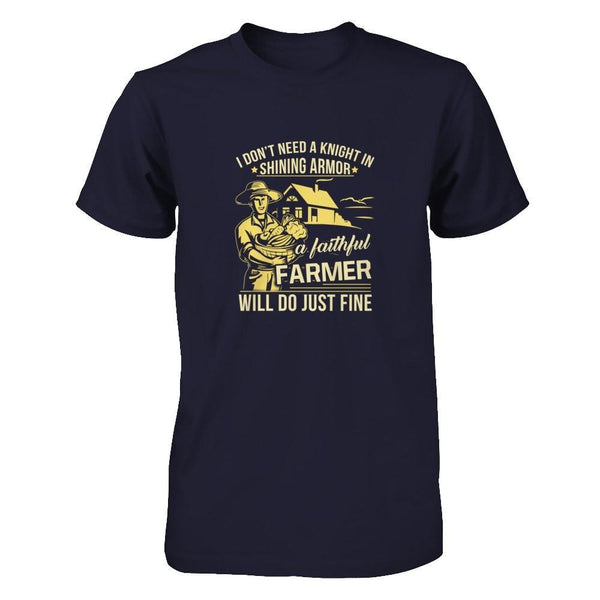 I Do Not Need Knight In Shining Armor Next Level - Unisex Fitted Tee / Midnight Navy / XS Shirts