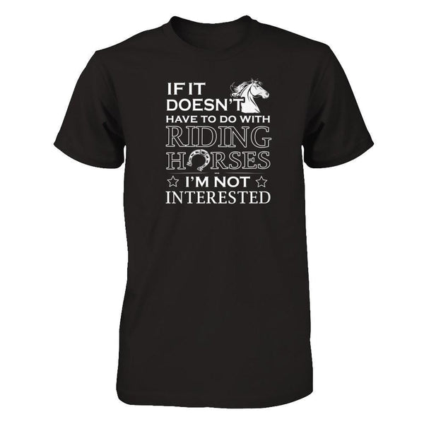 I Like Ride Horse Next Level - Unisex Fitted Tee / Black / XS Shirts