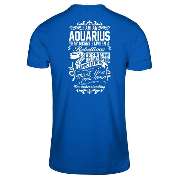 I'm an Aquarius Next Level - Unisex Fitted Tee / Royal / XS Shirts