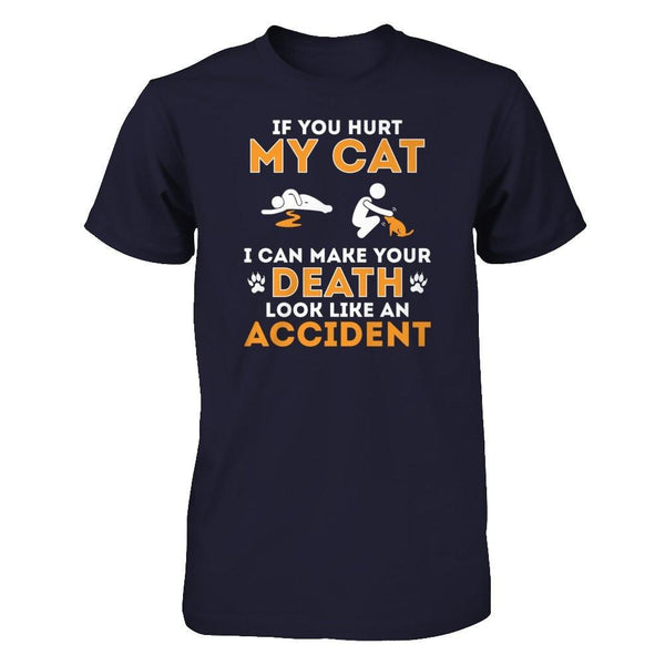 If You Hurt My Cat Next Level - Unisex Fitted Tee / Midnight Navy / XS Shirts