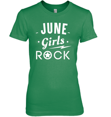 June Girls Rock T-shirt Gildan Ultra Cotton Women's T-Shirt / Irish Green / S Shirts