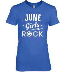 June Girls Rock T-shirt Gildan Ultra Cotton Women's T-Shirt / Royal / S Shirts