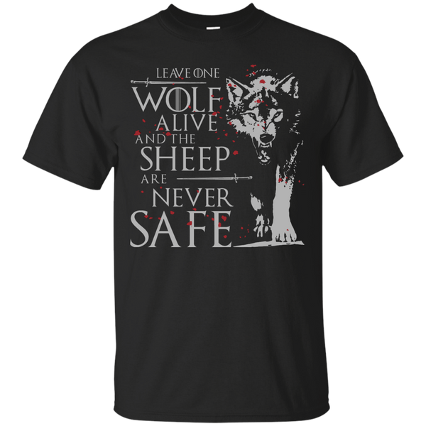 Leave One Wolf Alive G200 Gildan Ultra Cotton T-Shirt / Black / Small Shirts