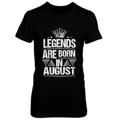 Legend Are Born in August Next Level - The Boyfriend Tee / Black / XS Shirts