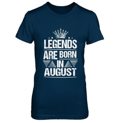 Legend Are Born in August Next Level - The Boyfriend Tee / Midnight Navy / XS Shirts