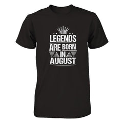 Legend Are Born in August Next Level - Unisex Fitted Tee / Black / XS Shirts