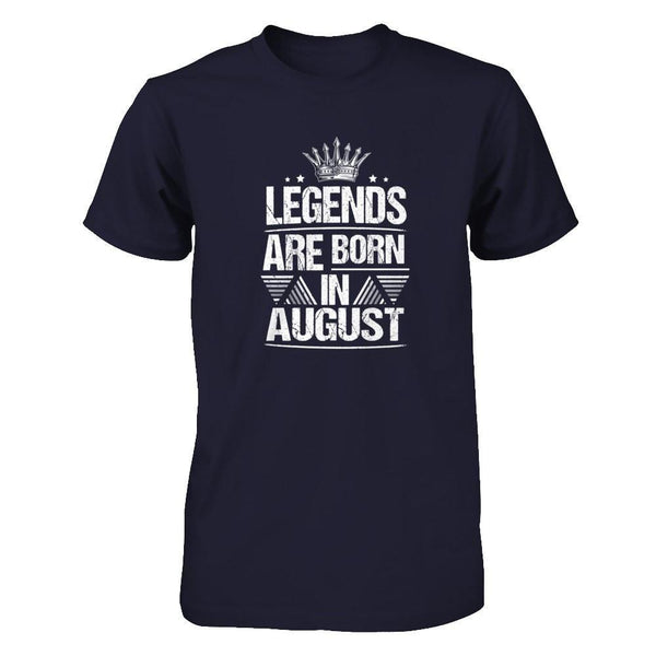 Legend Are Born in August Next Level - Unisex Fitted Tee / Midnight Navy / XS Shirts