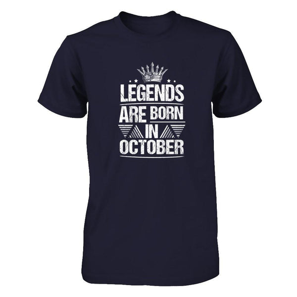 Legend Are Born in October Next Level - Unisex Fitted Tee / Midnight Navy / XS Shirts