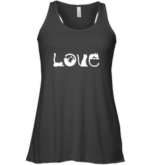 Love Cat Bella Flowy Racerback Tank / Black / XS Shirts