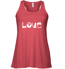 Love Cat Bella Flowy Racerback Tank / Red / XS Shirts