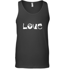 Love Cat Gildan Unisex Ultra Cotton Tank Top / Black / S Shirts