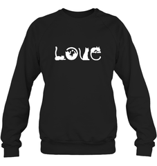 Love Cat Heavy Blend Crewneck Sweatshirt / Black / XS Shirts