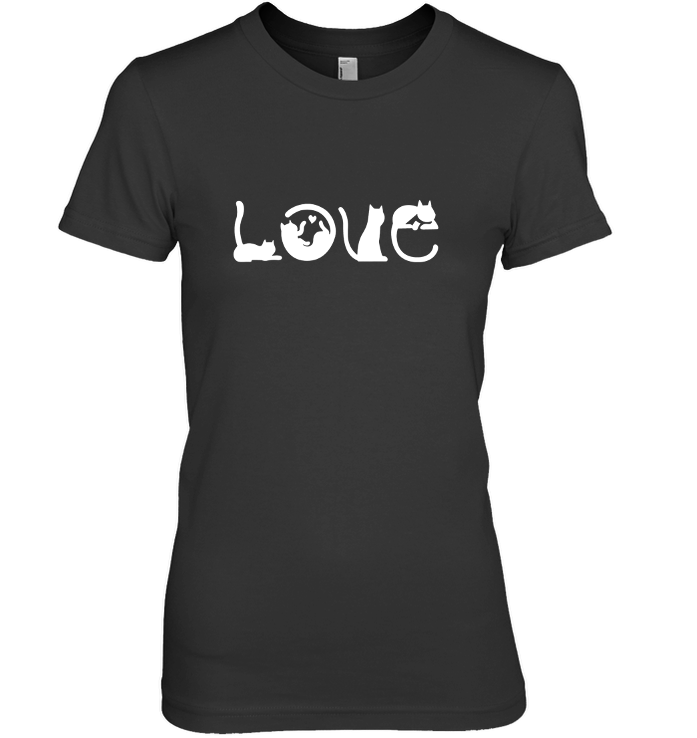 Love Cat Next Level The Boyfriend Tee / Black / S Shirts