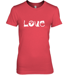 Love Cat Next Level The Boyfriend Tee / Red / S Shirts
