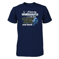Love My Granddaughter to The Death Star Gildan - Short Sleeve Tee / Navy / S Shirts