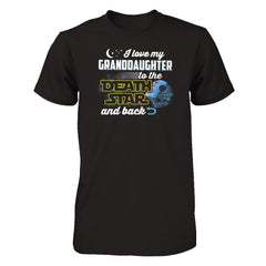 Love My Granddaughter to The Death Star Next Level - Unisex Fitted Tee / Black / XS Shirts