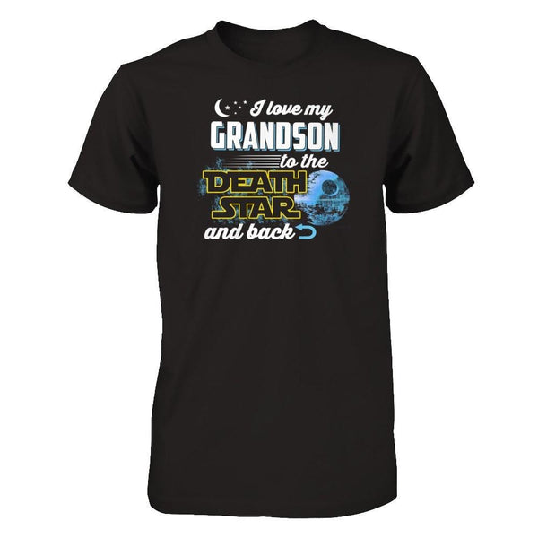 Love My Grandson to The Death Star Next Level - Unisex Fitted Tee / Black / XS Shirts