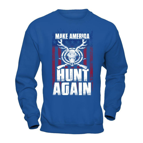Make America Hunt Again - Sweatshirt Royal / S Shirts