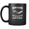 Mom and Son Heart To Heart Black Mug Drinkware