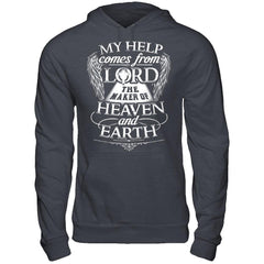 My Help Comes From Lord - Hoodie Dark Heather / S Shirts