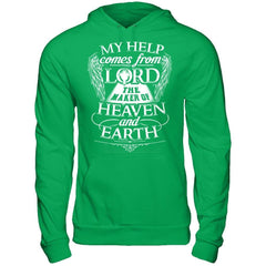My Help Comes From Lord - Hoodie Irish Green / S Shirts